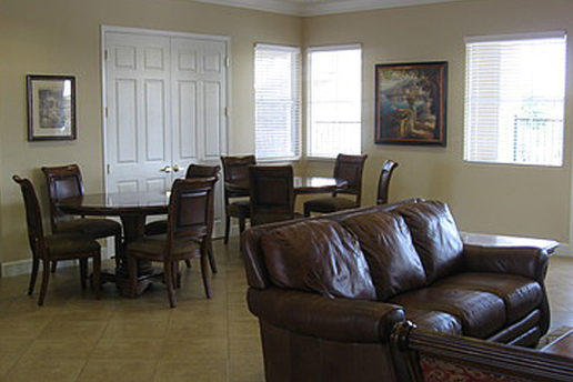 Clubhouse with seating, tables and chairs