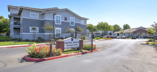Geneva Pointe signage and driveway